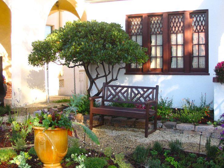 Tuscan Style Frontyard Ideas Neat Edible Front Yard Knot Garden