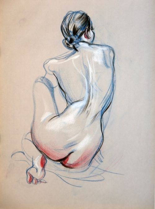 nudeartbuzz:Nude study… by James Jean.Source: jamesjean.com