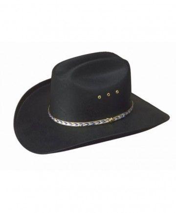 Black Cattleman Straw Hat Silver Conchos Adult