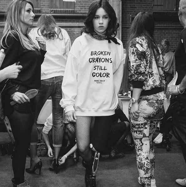 Stay focussed on your goals!  SUE's Warrior Elke Lale at Amsterdam FashionWeek for SUE