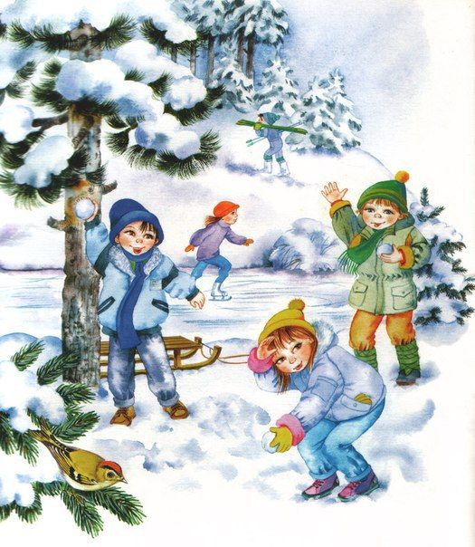 Ива зимой картинки для детей