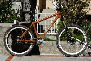 The single speed mountain bike doesn't have any gears like a traditional mountain bike. The