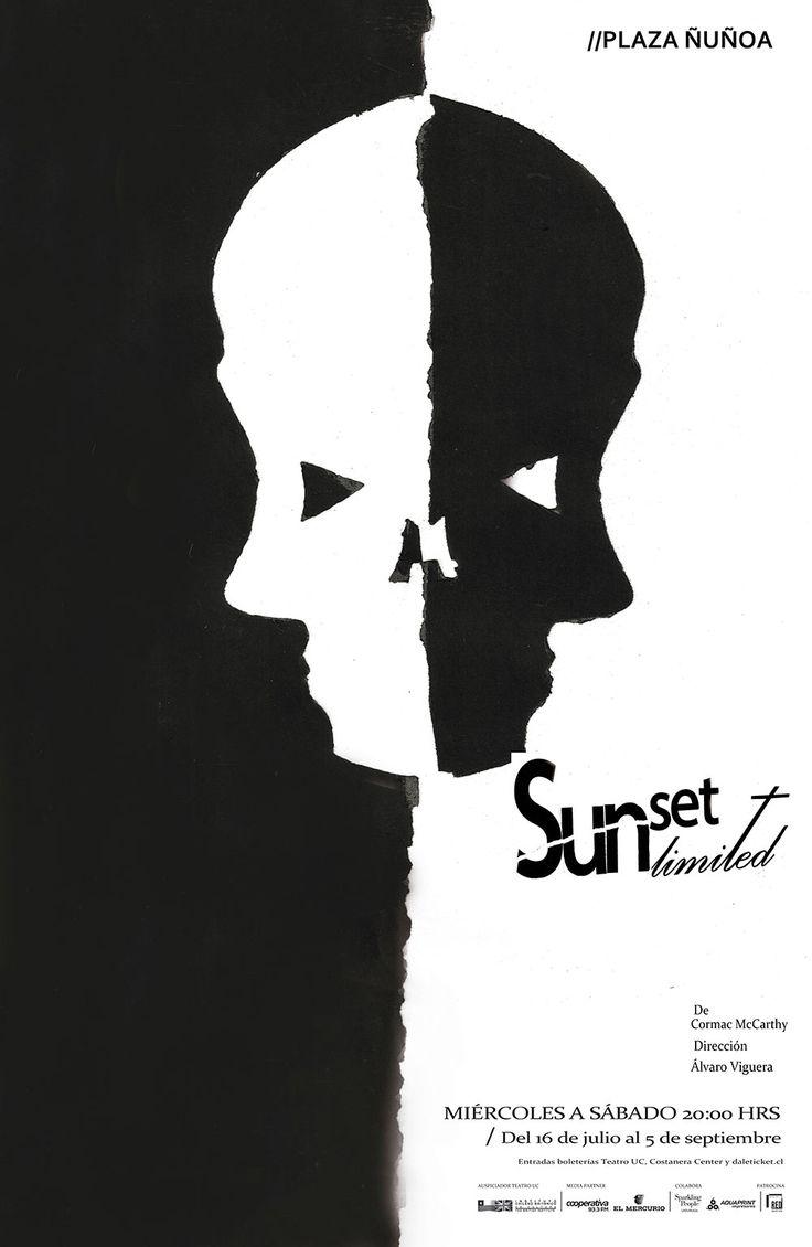 "Proyecto Afiche obra de teatro ""Sunset Limited"". Matías Lara."