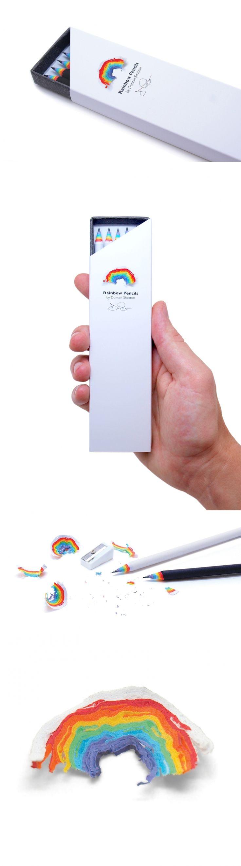 Rainbow Pencils — The Dieline - Branding & Packaging Design - created via https://pinthemall.net