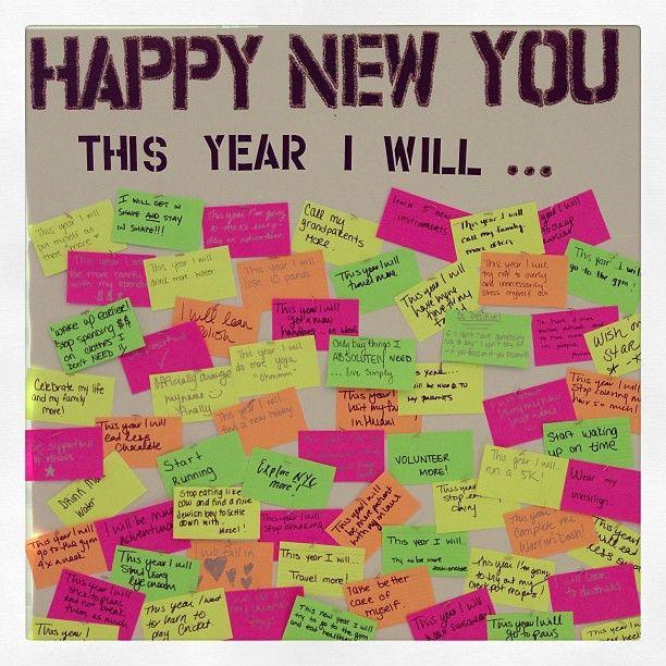 ideeli's employee resolution board! #HappyNewYou #lifeatideeli