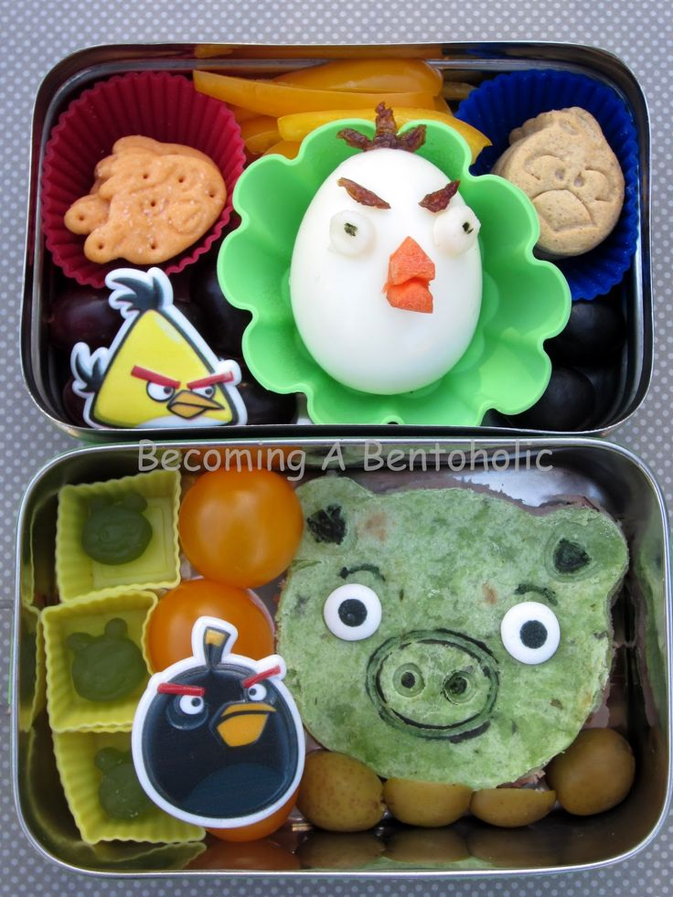 I have been wanting to do an angry birds themed bento for quite some time.  When I first saw the CuteZCute animal cutters I knew I would be ...