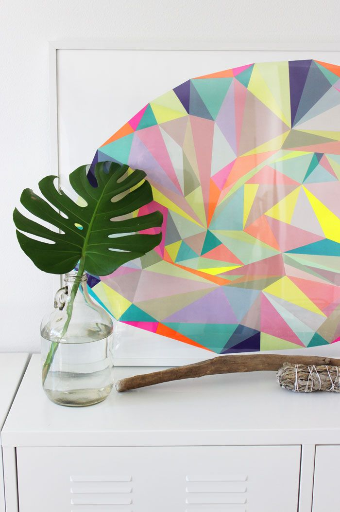 Abstract colorful graphic art Poppytalk: The Adaptable Monstera