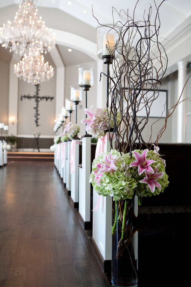 church wedding decorations candles%0A aisle candles w flowers  Tall Centerpiece WeddingCenterpiecesWedding  ChurchWedding