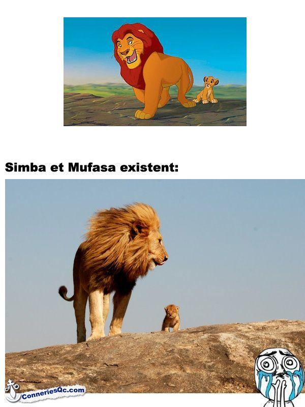 Simba and Mufasa are real!