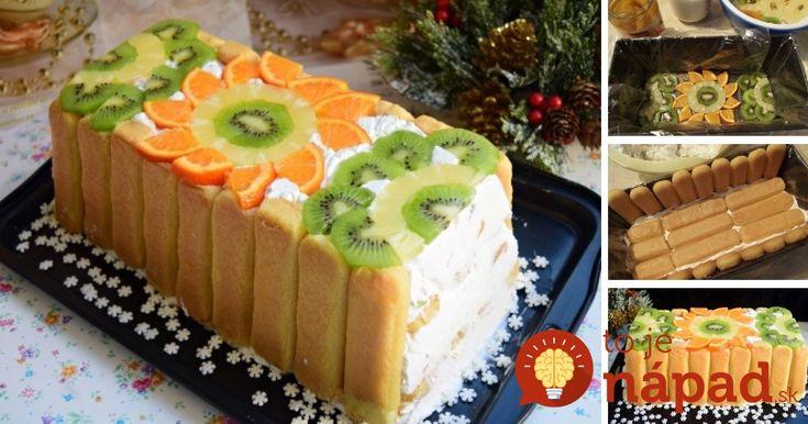 Vynikajúca torta plná jemného smotanovo-jogurtového krému a a ovocia. Nemusíte ani zapínať rúru, pripravíte ju rýchlo, bez pečenia!