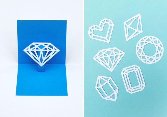 You're a gem // DIY pop-up card // minieco