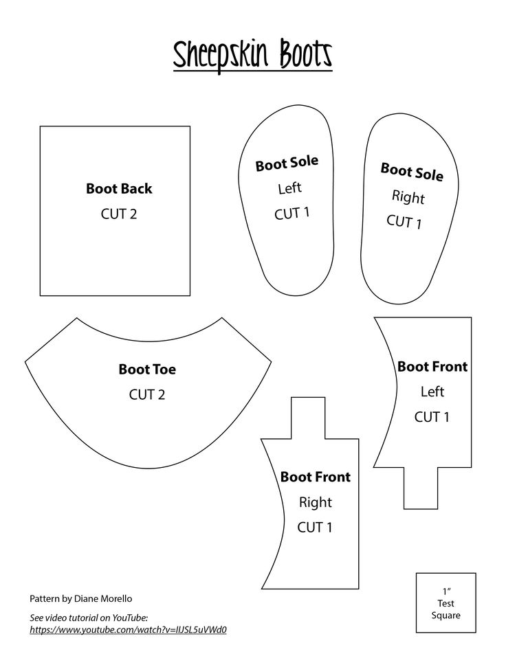 Complete step by step instructions are on youtube under Dianne Morrello. You can print this pattern out. Short boots.