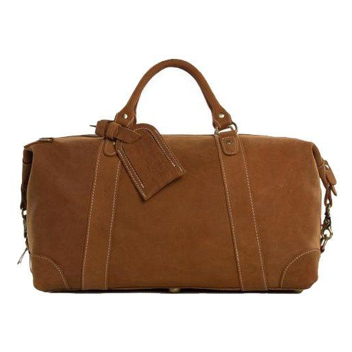 """Top quality vintage leather duffle bag made of 100% genuine leather and includes fine brass detailing to give it a cool rustic look. Interior is spacious with a separate compartment for a 16"""" laptop and pockets for cell phone, wallet and more to keep everything right where you want it. This bag comes with a detachable and adjustable shoulder strap for easy carry with style."""