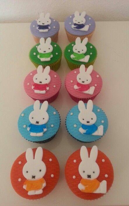 Nijntje / Miffy cupcakes