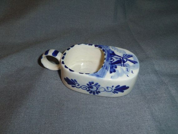 Delft Made in Holland Trinket Dish traditional by Lynnestreasures