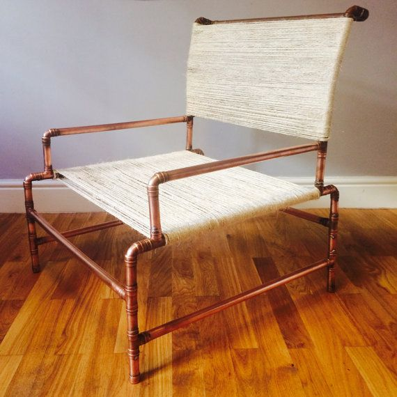 Chair Minimal Yet Comfy Armchair Made From Copper by JackRelton