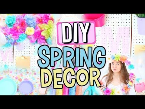 DIY Spring Room Decor | Sophie Louise - YouTube....for my girls