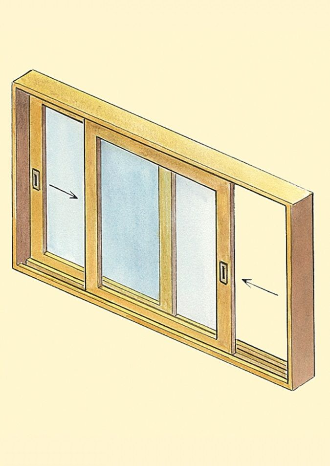 Horizontally sliding windows work best for contemporary house designs with screens mounting on the outside.
