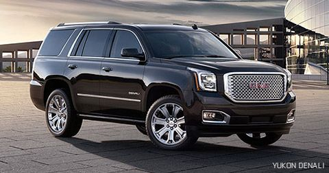 The beautiful aluminum wheels and distinctive chrome accents on the GMC Yukon Denali full-size SUV demand a second look.
