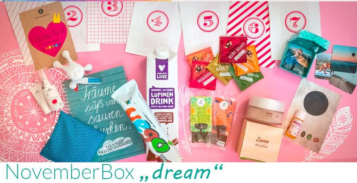 Mit der DreamBox wollten wir eure Träume erfüllen! Welche 14 traumhaften Produkte es in die Box geschafft haben, erfahrt ihr auf dem Blog!  http://bit.ly/2gxzqyR