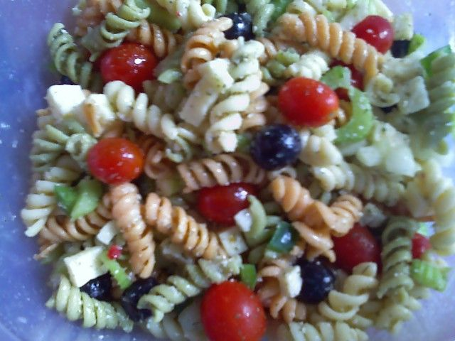 Tri-Colored Pasta Salad with Cheese