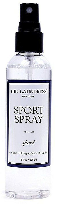 The nontoxic, antibacterial The Laundress Sport Spray freshens up practically anything.