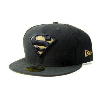 New Era Hero Reflect Superman Cap Black Gold