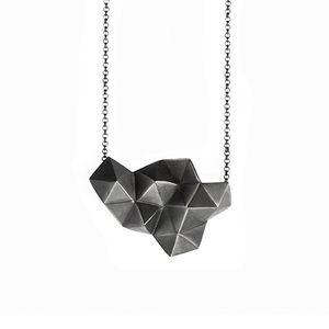 Image of Triangule I, oxidised silver