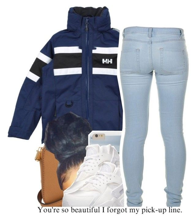 """7/16"" by trinityannetrinity ❤ liked on Polyvore featuring Helly Hansen, Michael Kors, NIKE and Marc by Marc Jacobs"