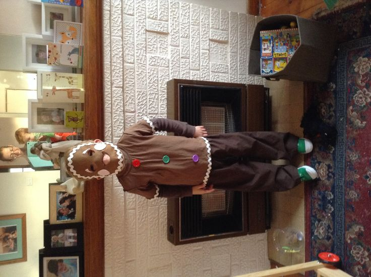 Gingerbread man costume for Fairy Tale dress up day 2014