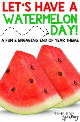 End the school year on a fun note by hosting a Watermelon Day! Students will participate in a variety of meaningful activities centered around watermelon. Freebies in post!
