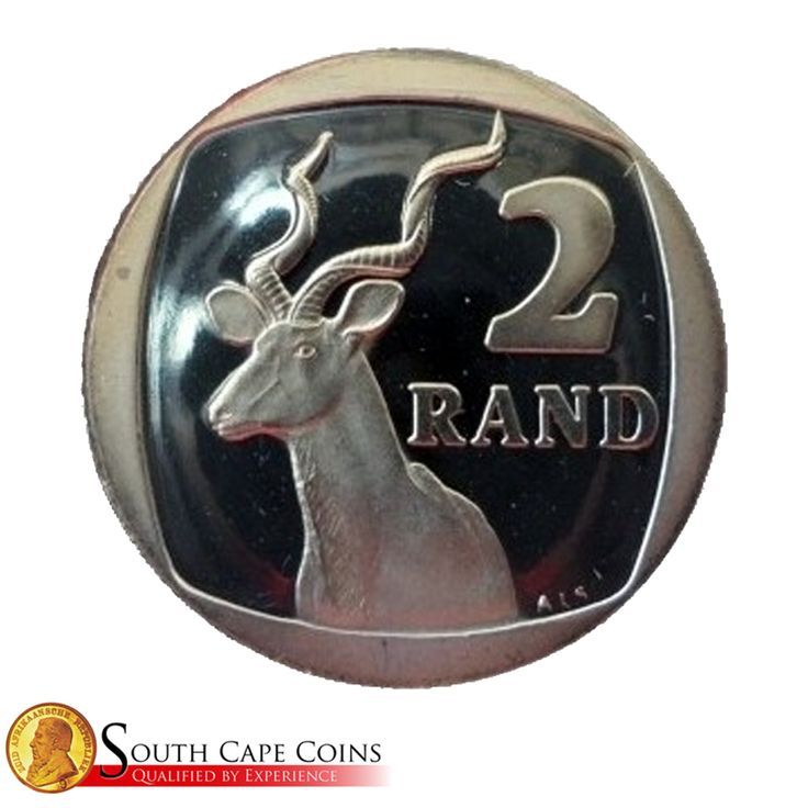 """As part of the third decimal series, it was agreed that the Kudu be portrayed on South Africa's first R2 circulation coin. Initially, a leopard design was considered for the R2 but it was decided that designs for the R1, R2 and R5 should be the antelope. The Kudu is known as the """"King of the Antelope"""" because of its magnificent horns. #Interesting #R2 #Coin"""