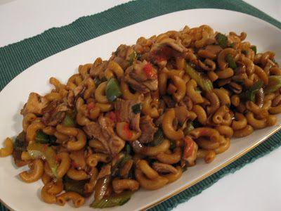 Ma cuisine...sans prétention: Macaroni chinois au poulet