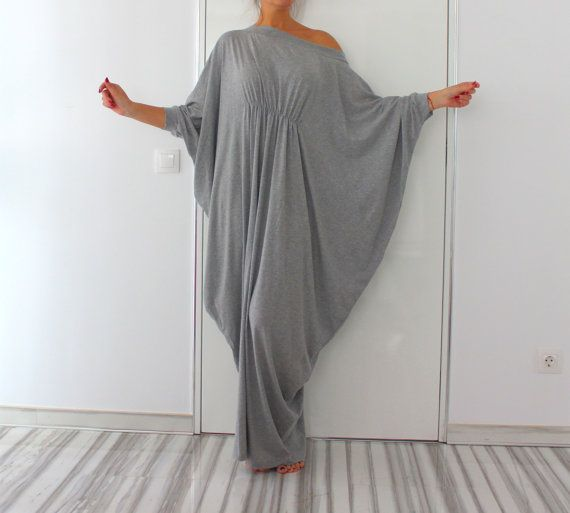Grey Abaya Dress Queen Maxi Soft elastic por cherryblossomsdress