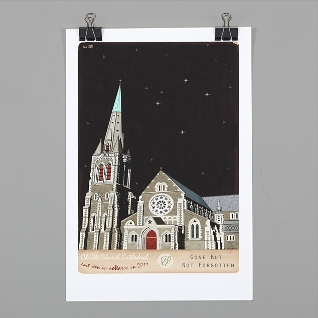 Christchurch Cathedral Print by Marika Jones | NZ Art Prints & Poster Store | endemicworld.com