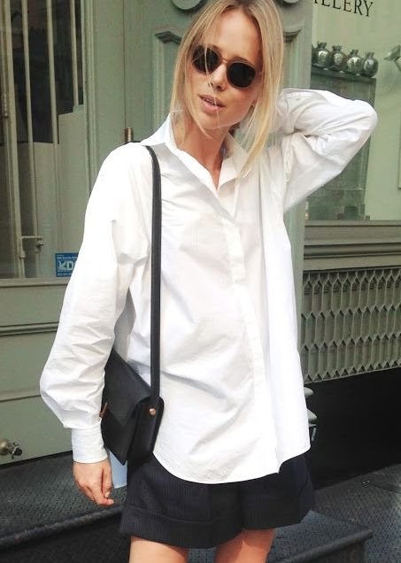 White Shirt | Classic | Minimal | Simple and Relaxed | Street Style | Elin Kling | HarperandHarley