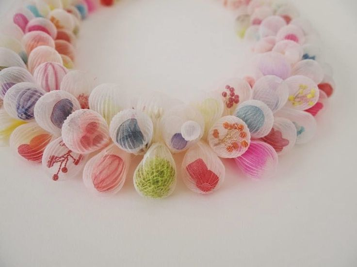 Mariko Kusumoto   CURIOSITE - polyester beads (polyester, which when heated can permanently retain the shape you create)