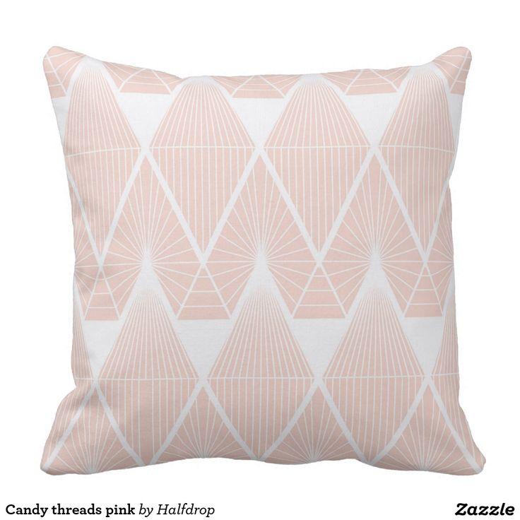 Candy threads pink pillow
