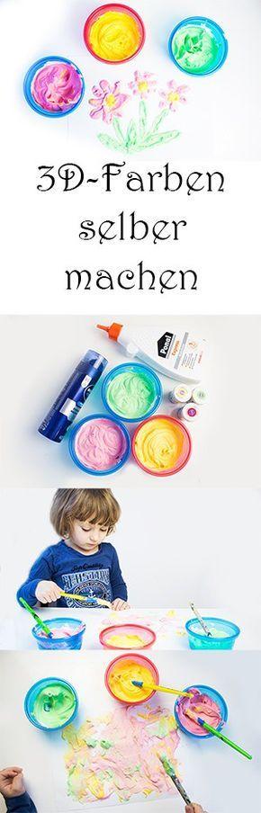 3D-Farben selber machen. DIY Farben. Malen mit Kindern