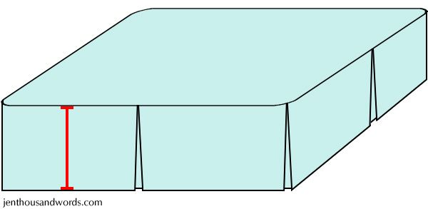 Bed skirt tutorial - I followed this step by step guide and my bedskirt came out perfect... the only thing i did different is I just pinned it to my box spring opposed to sewing it to a fitted sheet