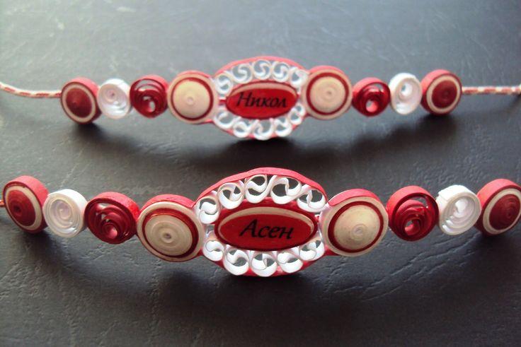Quilled bracelet, or necklace - by: Maria Cvetanova -  www.seasonsquilling.blogspot.com