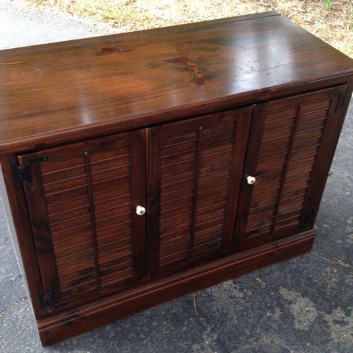 Refinish Ethan Allen Coffee Table: Ethan Allen Dark Antiqued Pine Old Tavern ENTERTAINMENT