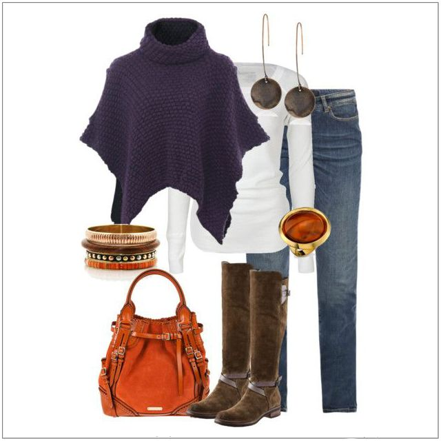 CHATA'S DAILY TIP: Create a casual poncho ensemble by wearing it over a shaped shirt or fitted T-shirt with tapered or skinny jeans. This wonderful alternative to a jersey or cardigan should be avoided if you have very wide shoulders or a fuller bust as the high neckline and wide sleeves can create a top heavy look. COPY CREDIT: Chata Romano Image Consultant, Willene Sieberhagen http://chataromano.com/consultant/willene-sieberhagen/ CREDIT: Pinterest
