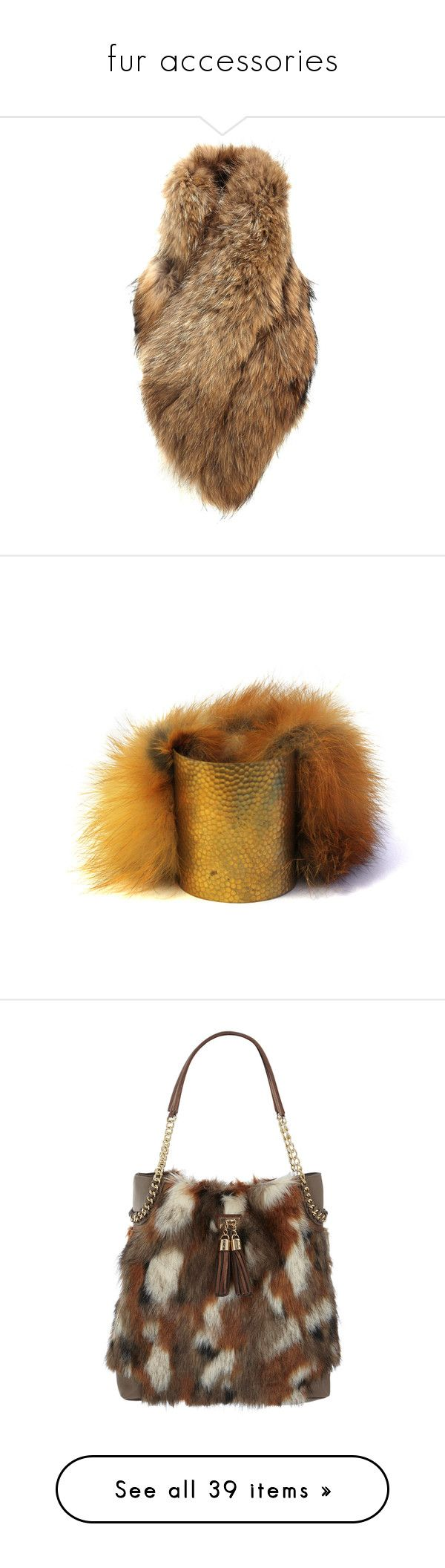 """""""fur accessories"""" by marinellina ❤ liked on Polyvore featuring accessories, scarves, fur, outerwear, beige, evening shawl, fur stole, holiday scarves, fur shawl and fur scarves"""