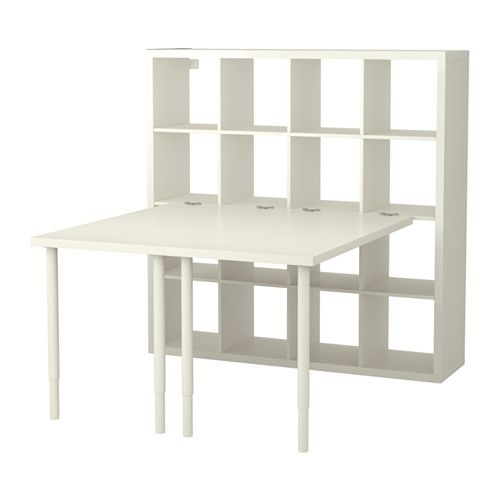 KALLAX Desk combination IKEA You can use the furniture as a room divider because it looks good from every angle.
