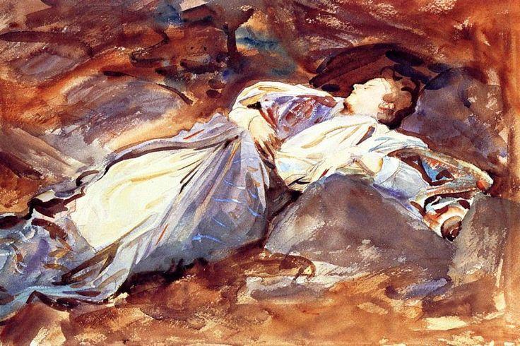 Violet Sleeping 1908. Джон Сингер Сарджент