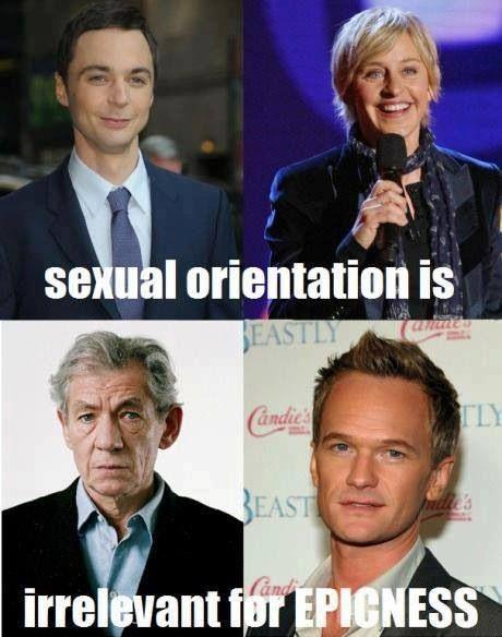 Openly gay celebrities.
