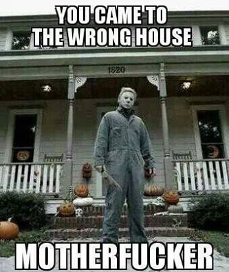 This is ironic because this is the replica house in NC - so it is the right-but wrong- house michael myers