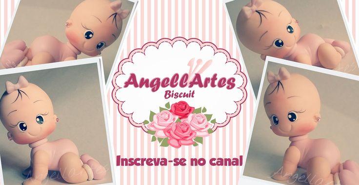 Bebê Engatinhando Biscuit - Angellartes