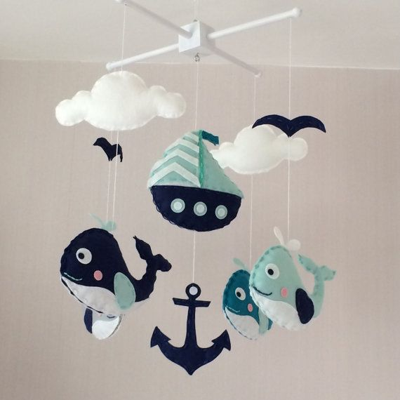 Baby mobile Crib mobile Cot mobile nautical baby by EllaandBoo